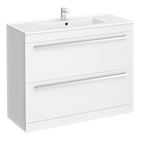 Nova Vanity Sink With Cabinet - 1000mm Modern High Gloss White
