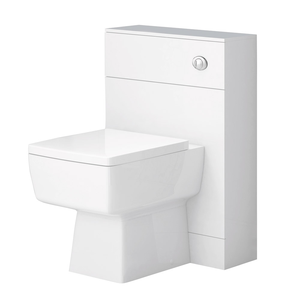 Nova High Gloss White Vanity Bathroom Suite - W1100 x D400/200mm profile large image view 4
