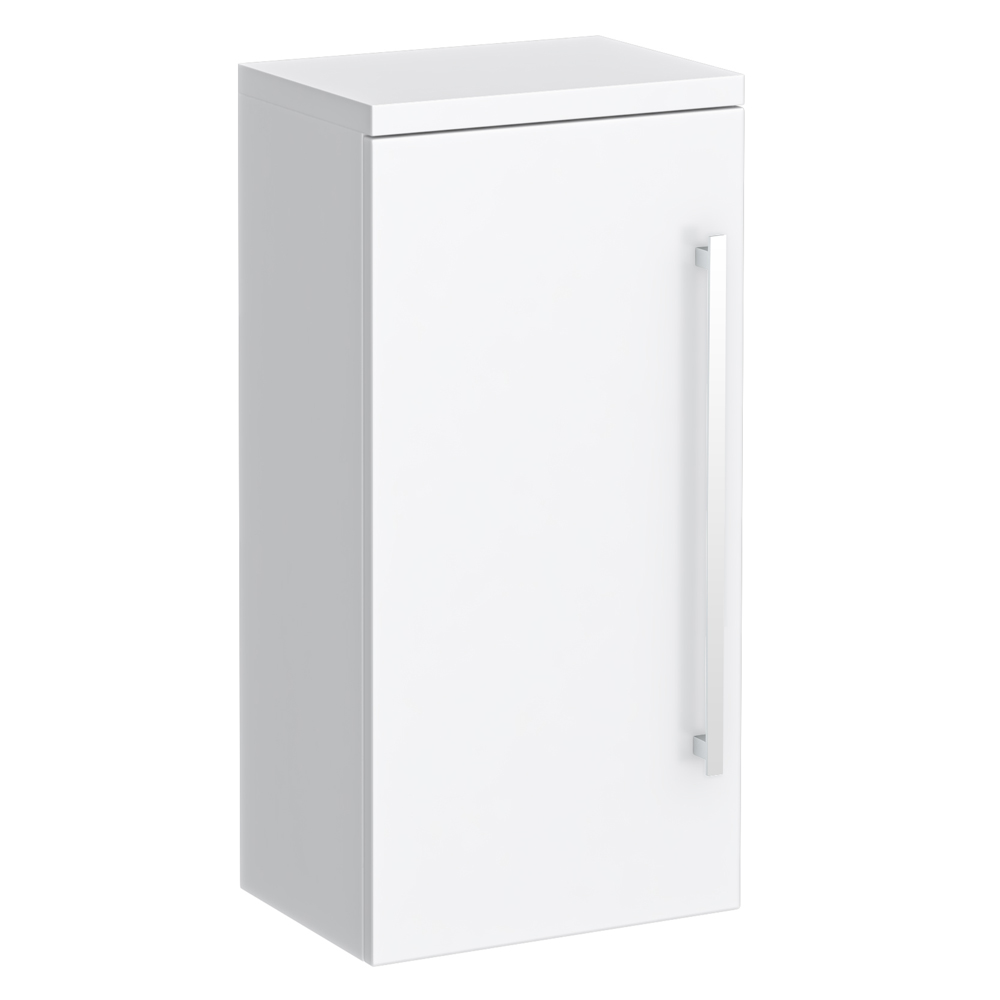 Nova High Gloss White Wall Mounted Cupboard W350 x D250mm - VTY071 Large Image