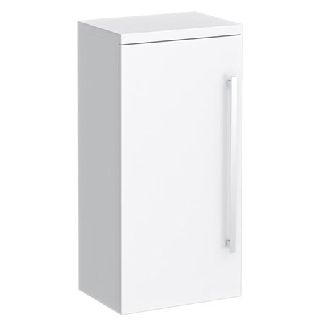Nova High Gloss White Wall Mounted Cupboard W350 x D250mm - VTY071