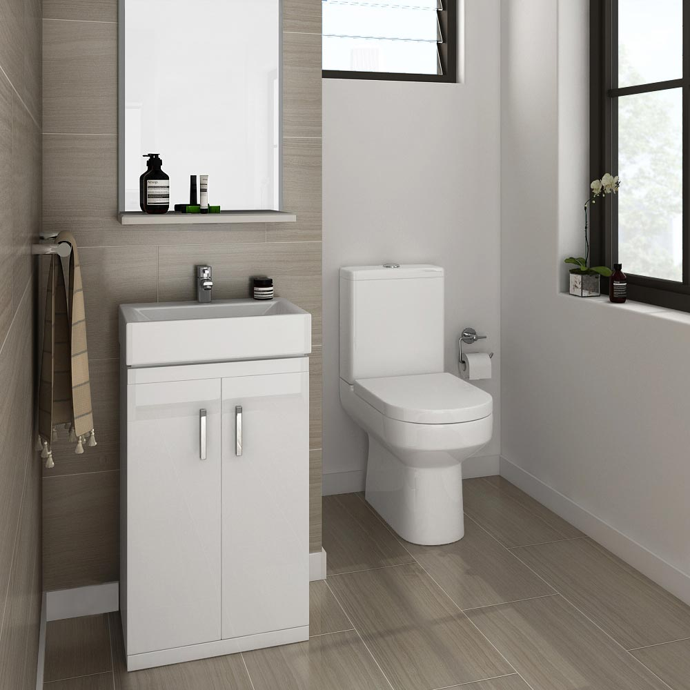 Nova Small White Gloss Cloakroom Suite