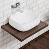 Nova Wall Hung Slimline Countertop Basin Shelf (600mm Wide - Dark Wood) Small Image