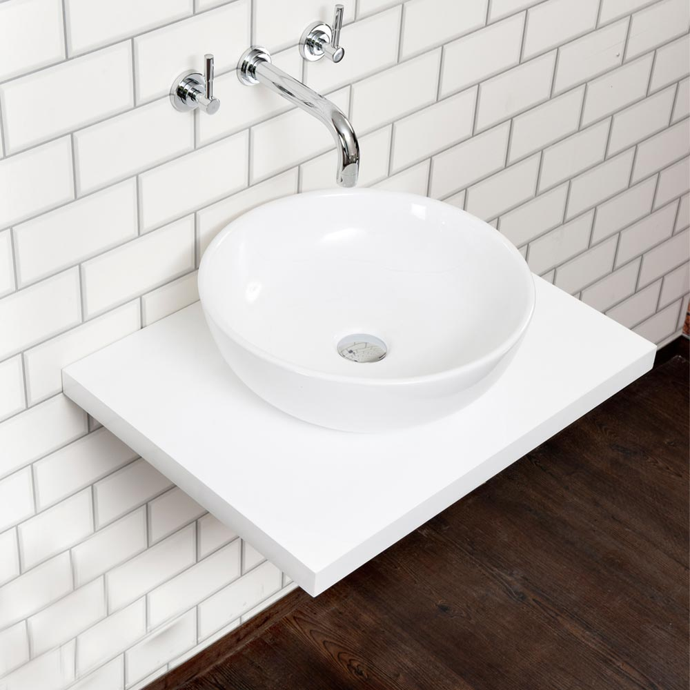 nova wall hung countertop basin shelf