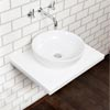 Nova Wall Hung Slimline Countertop Basin Shelf (600mm Wide - White) Small Image
