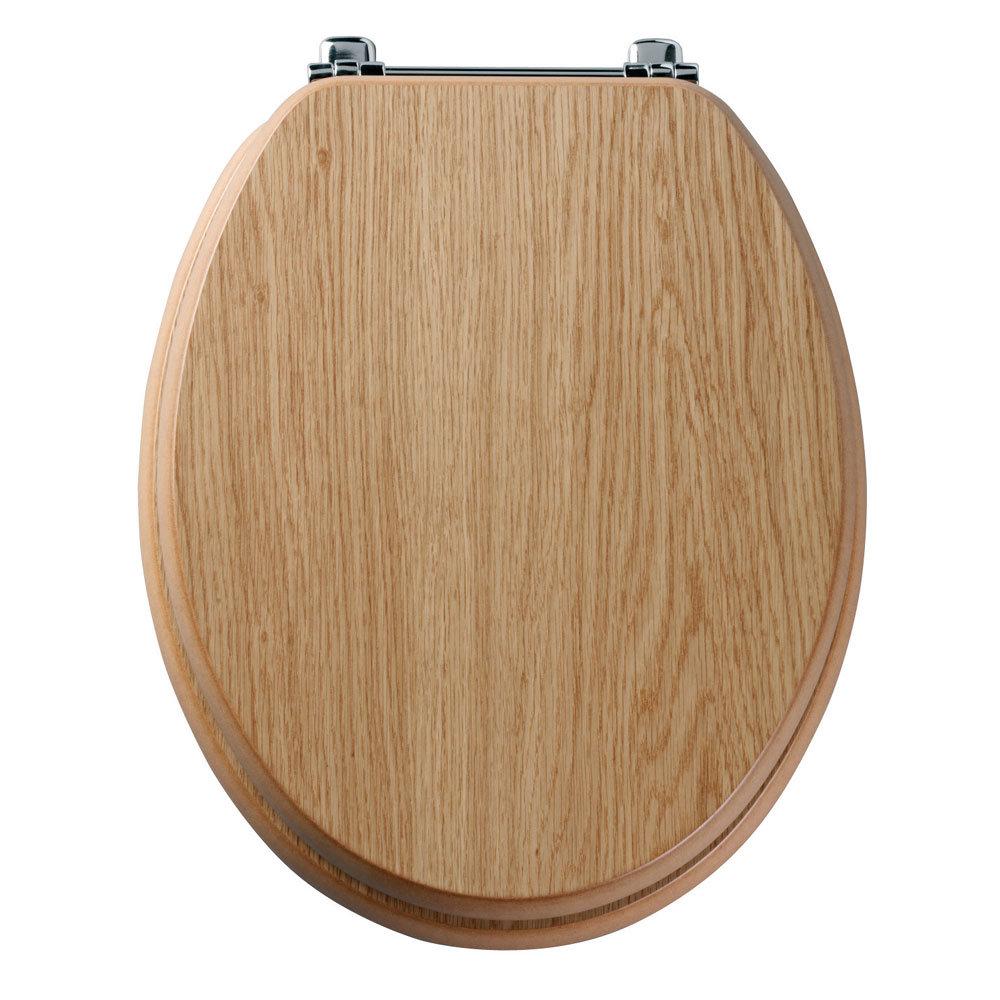 Tavistock Premier Toilet Seat with Chrome Bar Hinge - Various Colour Options profile large image view 1