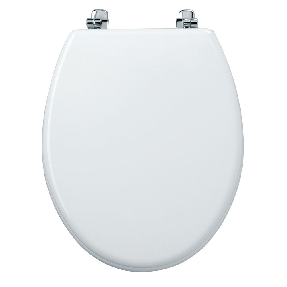 Tavistock Topaz Gloss White Moulded Wood Toilet Seat profile large image view 2