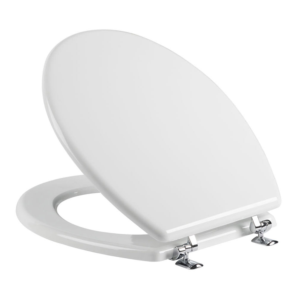 Tavistock Topaz Gloss White Moulded Wood Toilet Seat profile large image view 1