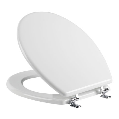 Tavistock Topaz Gloss White Moulded Wood Toilet Seat