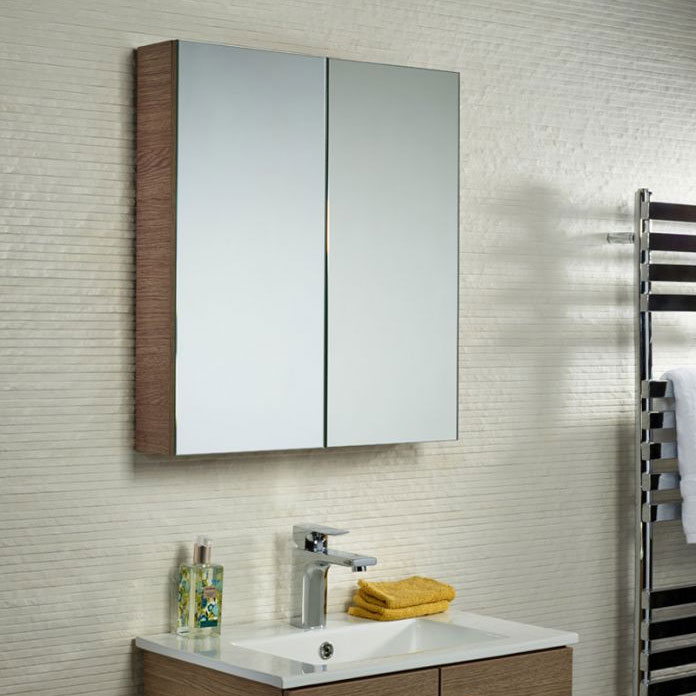 Tavistock Observe Double Door Mirror Cabinet - Montana Gloss profile large image view 2