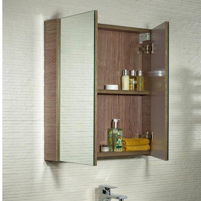 Tavistock Observe Double Door Mirror Cabinet - Montana Gloss profile large image view 3