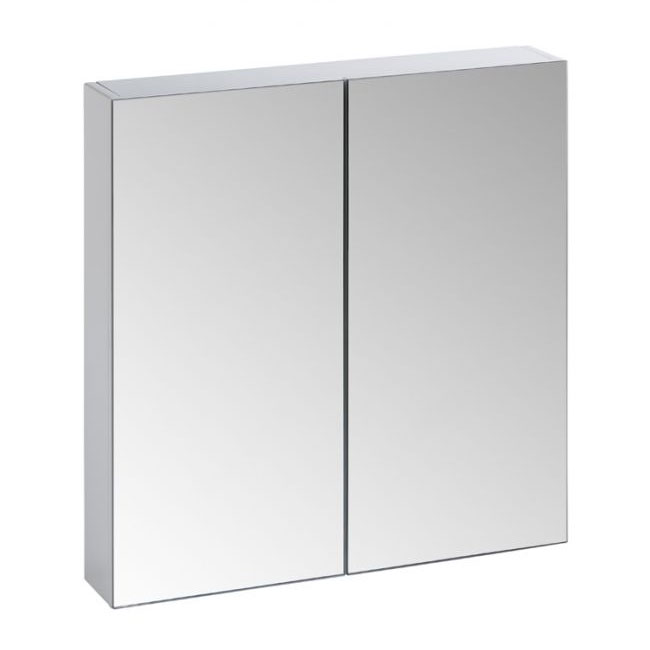 Tavistock Observe Double Door Mirror Cabinet - Gloss White profile large image view 1