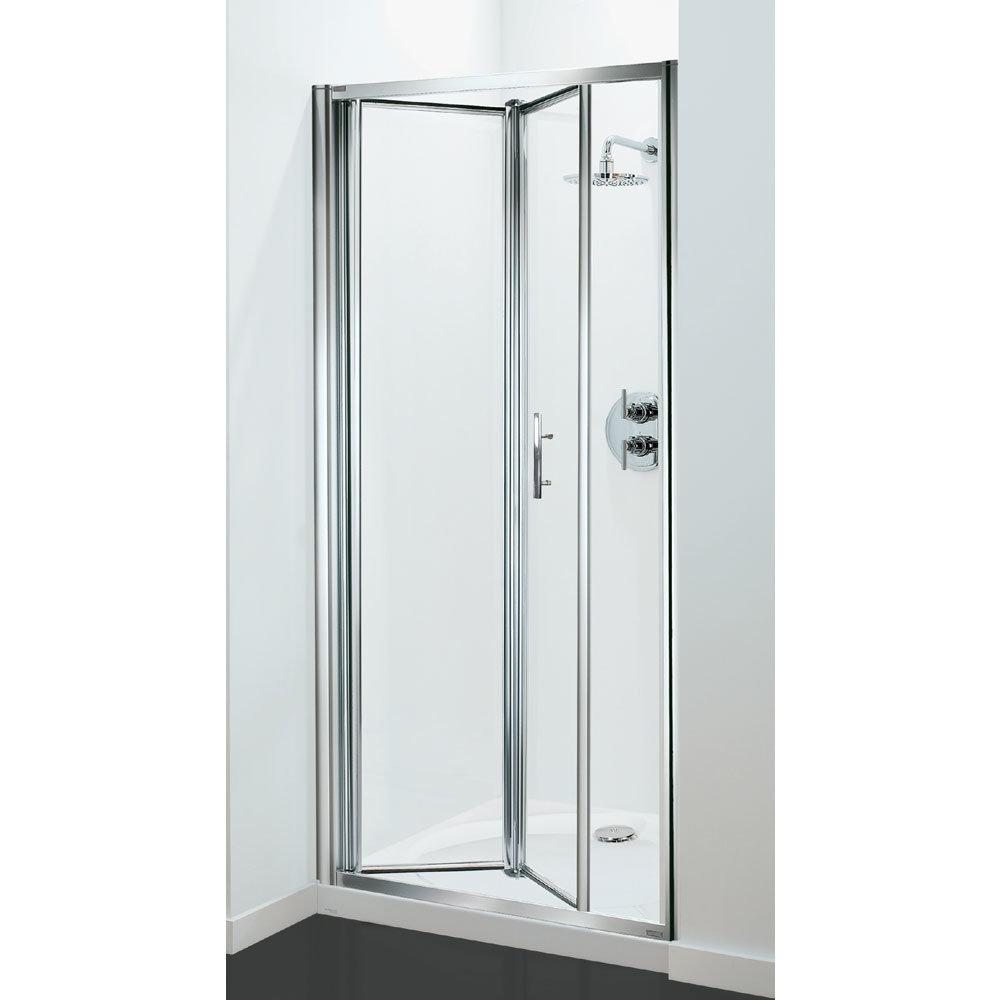 Coram - Optima Bi-Fold Shower Door - Chrome - Various Size Options Large Image