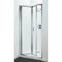 Coram - Optima Bi-Fold Shower Door - Chrome - Various Size Options Medium Image