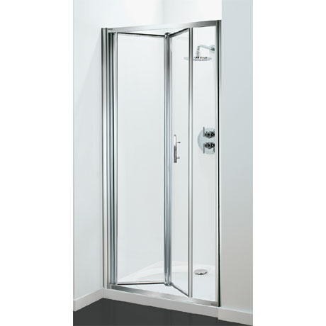 Coram - Optima Bi-Fold Shower Door - Chrome - Various Size Options