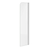 300 x 1400mm Mini Curved Fixed Bath Screen profile small image view 1