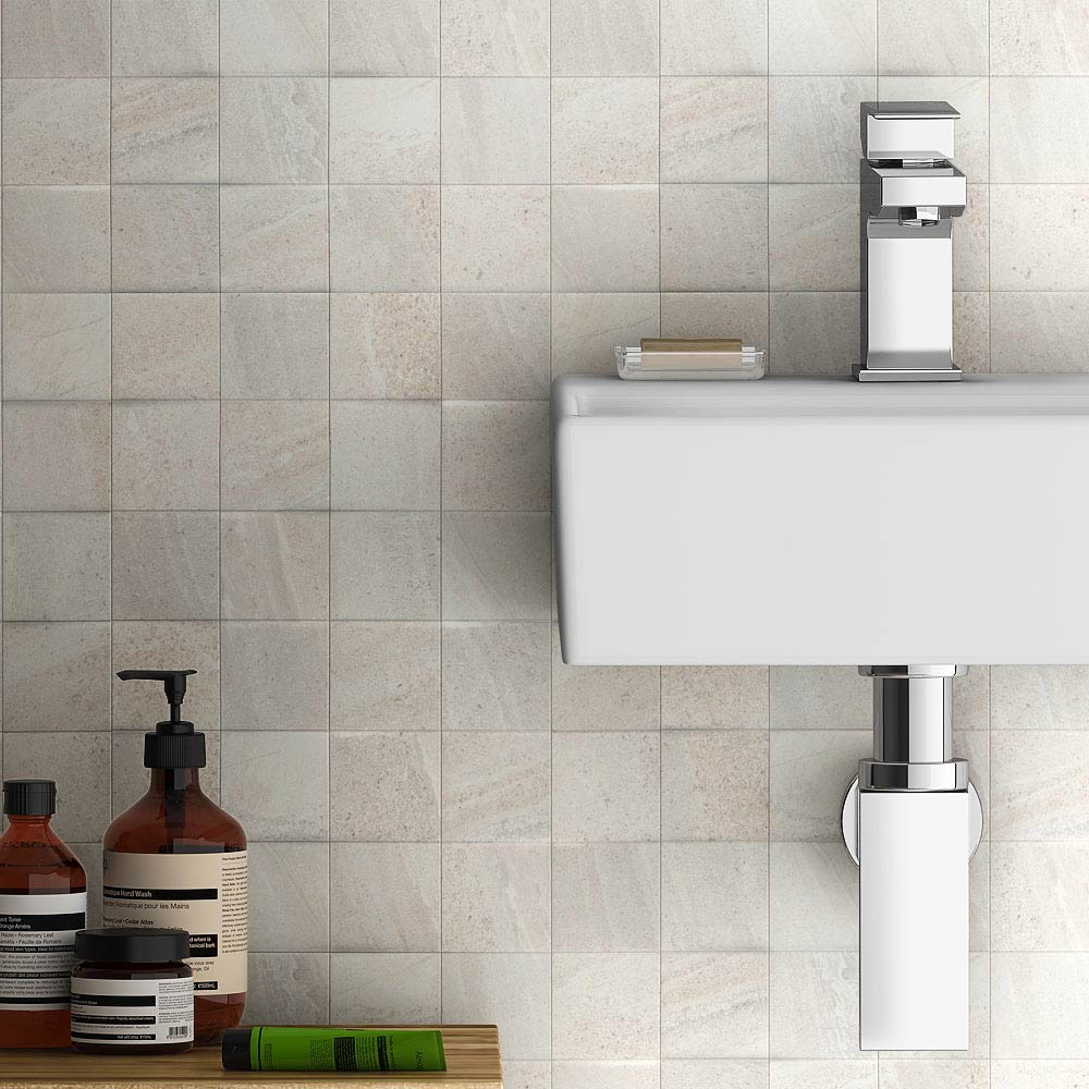 Oceania Stone White Mosaic Wall Tiles  Feature Large Image