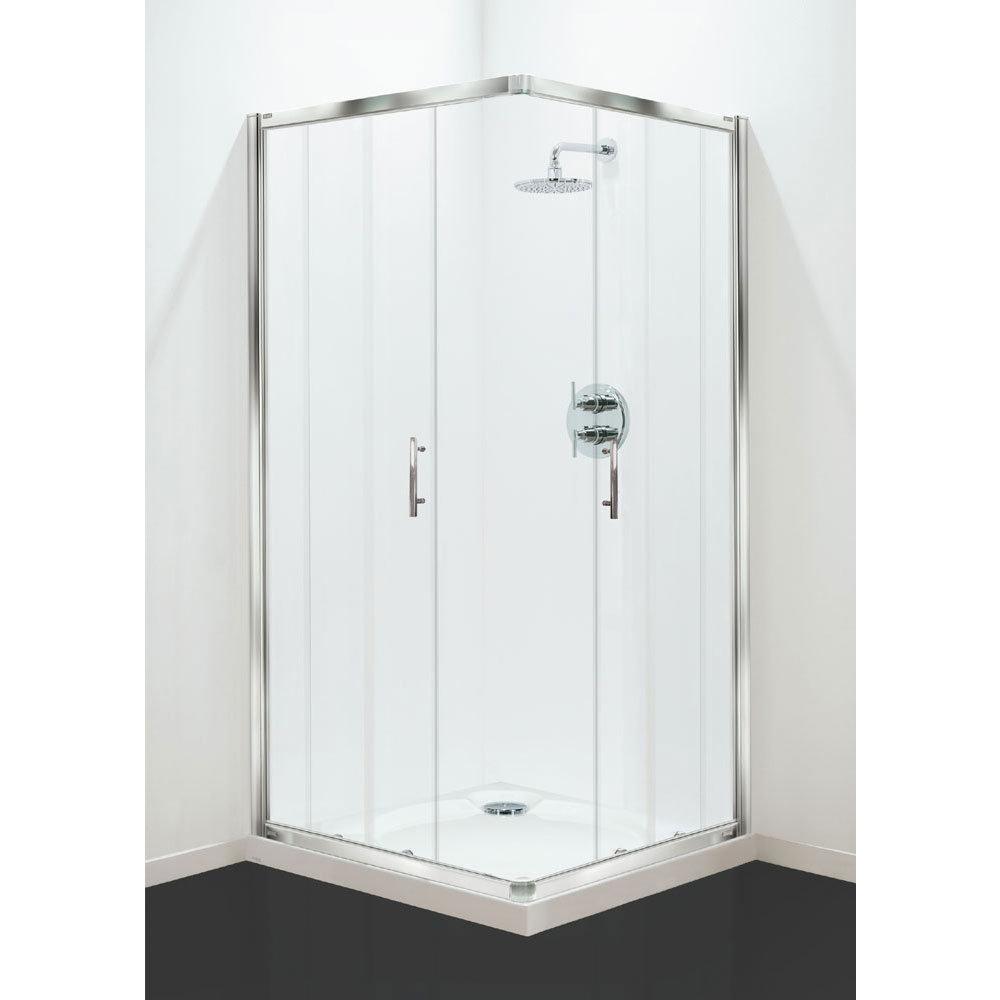 Coram - Optima Corner Entry Shower Enclosure - Chrome - Various Size Options Large Image