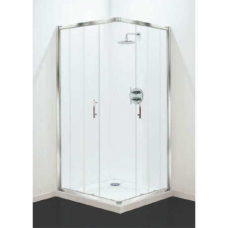 Coram - Optima Corner Entry Shower Enclosure - Chrome - Various Size Options