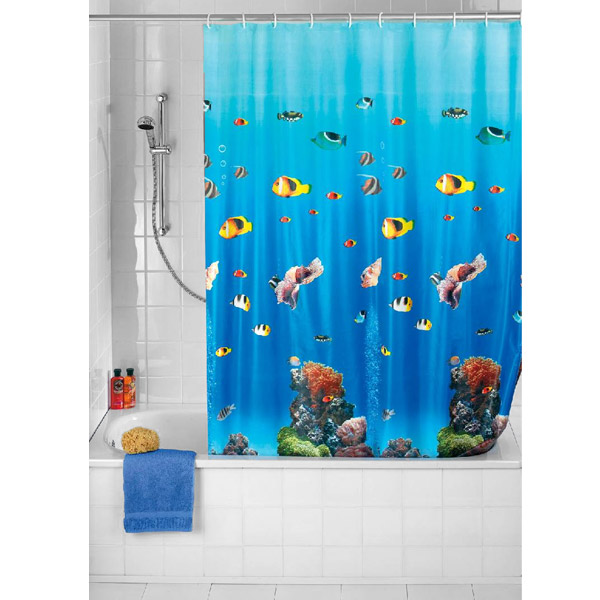Wenko Ocean PEVA Shower Curtain - W1800 x H2000mm - 19122100 Large Image
