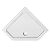 1100 x 1100 Diamond Shaped Shower Tray profile small image view 1