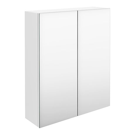 Hudson Reed 600mm White Gloss 50/50 Mirror Unit