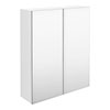 Hudson Reed 600mm White Gloss 50/50 Mirror Unit profile small image view 1