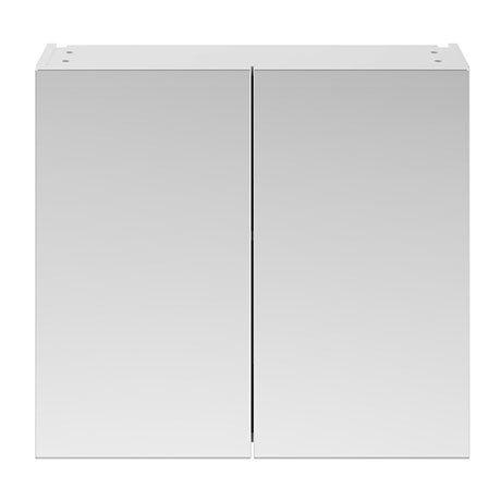 Brooklyn 800mm Gloss White Bathroom Mirror Cabinet - 2 Door