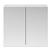 Brooklyn 800mm Gloss White Bathroom Mirror Cabinet - 2 Door profile small image view 1