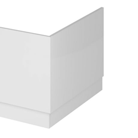 Hudson Reed Gloss White 750 End Straight Bath Panel - OFF171