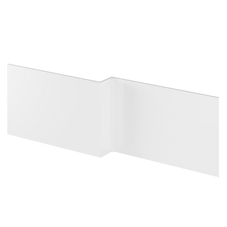 Hudson Reed Gloss White 1700 Square Shower Bath Front Panel - OFF173