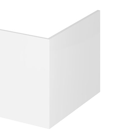 Hudson Reed Gloss White 700 Square Shower Bath End Panel - OFF179