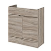 Hudson Reed 800x355mm Driftwood Full Depth Vanity Unit profile small image view 1