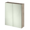 Hudson Reed 600mm Driftwood 50/50 Mirror Unit - OFF217 profile small image view 1