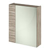 Hudson Reed 600mm Driftwood 75/25 Mirror Unit profile small image view 1