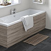 Hudson Reed Driftwood 1700 Front Straight Bath Panel - OFF277 profile small image view 1