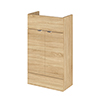 Hudson Reed 500x255mm Natural Oak Compact Vanity Unit Medium Image