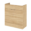 Hudson Reed 800x355mm Natural Oak Full Depth Vanity Unit Medium Image