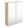 Hudson Reed 600mm Natural Oak 50/50 Mirror Unit profile small image view 1