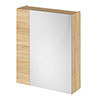 Hudson Reed 600mm Natural Oak 75/25 Mirror Unit Medium Image