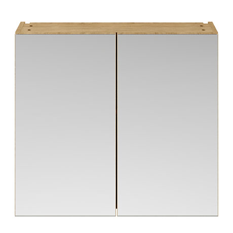 Brooklyn 800mm Natural Oak Bathroom Mirror Cabinet - 2 Door