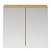 Brooklyn 800mm Natural Oak Bathroom Mirror Cabinet - 2 Door profile small image view 1