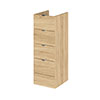 Hudson Reed 300x355mm Natural Oak Full Depth 4 Drawer Unit Medium Image