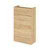 Hudson Reed 500x255mm Natural Oak Compact WC Unit Medium Image