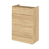 Hudson Reed 600x355mm Natural Oak Full Depth WC Unit profile small image view 1