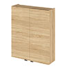 Hudson Reed Natural Oak 500mm Wall Unit - OFF355 profile small image view 1