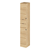 Hudson Reed 300x355mm Tall Natural Oak Full Depth Tower Unit profile small image view 1