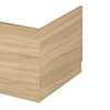 Hudson Reed Natural Oak 700 End Straight Bath - OFF370 profile small image view 1