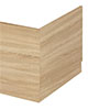 Hudson Reed Natural Oak 750 End Straight Bath - OFF371 profile small image view 1