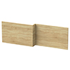 Hudson Reed Natural Oak 1700 Square Shower Bath Front Panel - OFF373 profile small image view 1