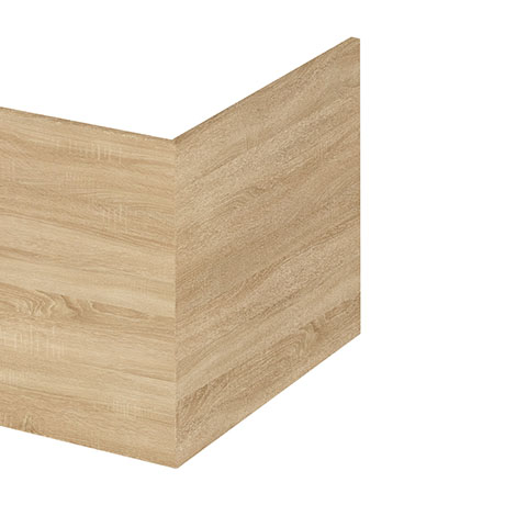 Hudson Reed Natural Oak 700 Square Shower Bath End Panel - OFF379